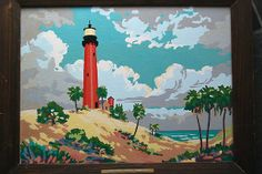 Vintage Paint by Number Painting Juptier light Florida by elephantsgerald, via Flickr