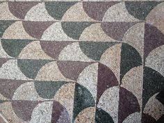 Baths of Caracalla Rome - Fragment of mosaic floor (212-216 AD)