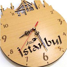istanbul ahşap saat