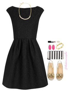 """•Dress like Audrey•"" by thedancersophie ❤ liked on Polyvore featuring Boutique Moschino, Kate Spade, Kendra Scott and MAC Cosmetics"