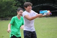 We love a bit of wet 'n' wild fun! Water pistols at the ready...