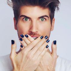 Men Nail Polish, Mens Nails, Joey Graceffa, Male Makeup, Perfect Boyfriend, Mens Flip Flops, Male Grooming, Face Hair, Male Face
