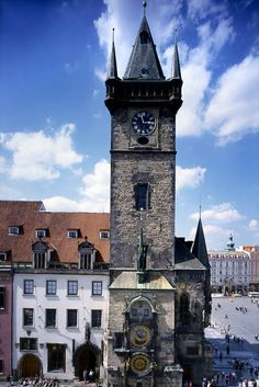 Prague, Czech Republic. I've been to this clock tower! I want to go back, the whole town is so pretty.
