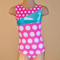 Polka Dots Gymnastics Leotard - This is sooooo Augusta!