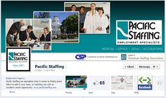Pacific Staffing's has a great cover image that provides an overview of the staffing services they provide. Looks great!