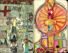 journal pages done in england | teesha's circus