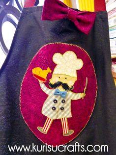 Regalos artesanales: delantales de cocinero para el día del padre