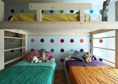 I wonder if having 3 beds in one room like this would allow for 1 more??? Then I could have an empty room for a playroom. (and just stick #5 on the roof)