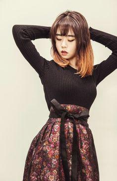 * 살구한복×하플리 생활한복 살구한복×하플리 미드나잇 허리치마 출시  #생활한복 #허리치마 #살구한복 #하플리 #hanbok #korea #한복 #모던한복 미드나잇