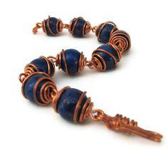 Lapis Lazuli - Wire Wrapped Bracelet