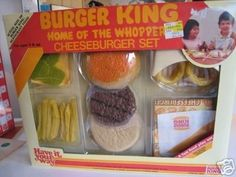 Kids Toy Shop, Toy Cars For Kids, Toys For Girls, Play Food Set, Pretend Food, Burger King Whopper, Awesome Elf On The Shelf Ideas, Disney Princess Toys, Barbie Doll Set
