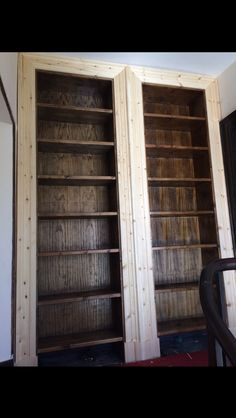 Built in bookcase
