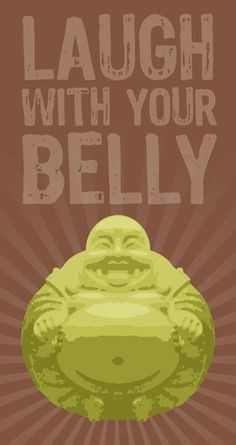 Laughing Buddha Poster by Laceybabe on Etsy, $20.00