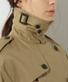 HYKE Fur Fashion, Fashion Details, Womens Fashion, Fashion Design, Burberry Trench Coat, Tweed Dress, Sweater Coats, Minimal Fashion, Apparel Design