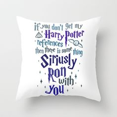Harry Potter References Throw Pillow by LookHUMAN  - $20.00