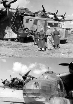 1942, Tunisia Unloading a MAN  truck from a Messerschmitt Me.323 Gigant The giant Me 323 transport aircraft was used to bring in supplies, even though it was very vulnerable in a combat zone.