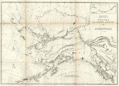 Early Map of Alaska and Adjoining Territory 1869.  GPO, Lindenkohl, H. 1869 Wshington, DC.