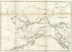Early Map of Alaska and Adjoining Territory 1869.  GPO, Lindenkohl, H. 1869 Wshington, DC.