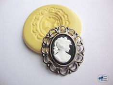 Victorian Cameo Mold - Flexible Silicone - Vintage Steampunk - Polymer Clay Resin Fondant Soap Wax Candy