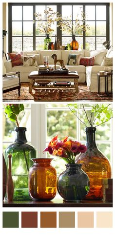 Rustic Recycled Glass Vases