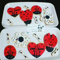 #mariquitas 3docenas entregadas ayer! #mycookiecreations ❤🍪😍😋🐞🌸 #inlove