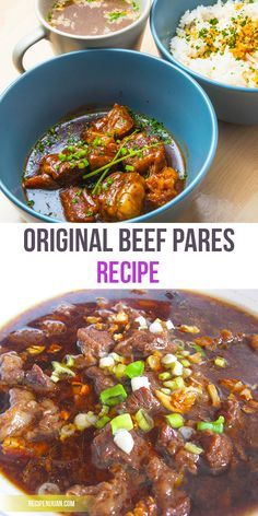 Another Popular Recipe From The Philippines Beef Pares Learn How on Best Recipes Ideas 4361 Meat Recipes, Asian Recipes, Cooking Recipes, Oven Recipes, Easy Filipino Recipes, Vegetarian Recipes, Yummy Recipes, Dessert Recipes, Beef Dishes