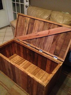 Storage Trunk from Reclaimed wood.. $200.00, via Etsy.