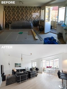 Living room | Before & After Malmhattan 8 of 8 #livingroom #livingroominspo #livingroominspiration #beforeandafter #malmhattan #malmö #malmo #föreochefter #vardagsrum