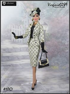 Tenue Outfit Accessoires Pour Fashion Royalty Barbie Silkstone Vintage 1067…