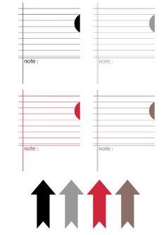 FREE DIGITAL SCRAP : Étiquettes à imprimer : PRINTABLE NOTE CARDS