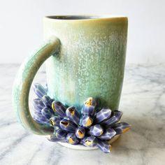 READY TO SHIP Sculpted Crystal Mug