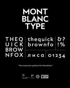 Montblanc Type is the corporate typeface for Montblanc. A design that reflects the brand's highly traditional esthetics and uncompromising demands regarding form and style. Montblanc Type was designed with the creative direction of BRANDDESIGN. Typography Letters, Typography Design, Hand Lettering, Web Design, Logo Design, Graphic Design, Typography Inspiration, Design Inspiration, Modern Logo