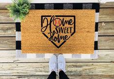 Excited to share this item from my shop: Home Sweet Home Baseball Doormat / Baseball Welcome Mat / Funny Doormat / Cute Doormat/ Front Porch Decor / Baseball Season / Baseball Decor Diy Outdoor Furniture, Outdoor Decor, Garden Furniture, Boho Chic, Base Ball, New Homeowner Gift, Coir Doormat, Fall Doormat, Funny Doormats
