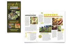 Farmers Market - Tri Fold Brochure Template Design