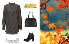The crystal clear mornings, the sunny afternoons, the trees filled with golden leaves – isn't autumn one of the most beautiful seasons of the year? We sure think so! Check out our must-have autumn essentials: Basii Printed Top by Day Birger et Mikkelsen Medium Bag by Depeche Fashion Boots by Bella Moda Liv scarf by Dagminell