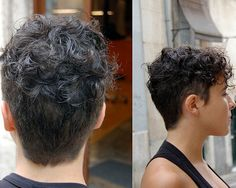 Very short natural curly hairstyles for women