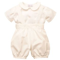 William Shirt And Romper Pants Baptism Outfit