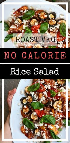 roast veg no calorie rice salad