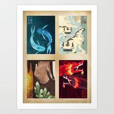 Original Bending Masters Series Art Print by Miss-meza Like this.