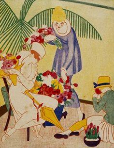 Thea Proctor The flower shop. 1920