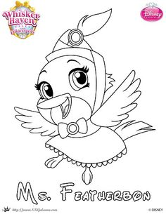 Whisker Haven Ms. Featherbon Tales Coloring Page | SKGaleana