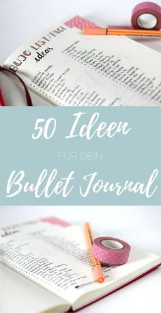 bullet journal 50 ideas for your Bullet Journal – easy to brush – simple hand lettering for everyone! Bullet Journal Tracker, Bullet Journal Wishlist, Bullet Journal Doodles, Bullet Journal Weekly Spread, How To Bullet Journal, Bullet Journal Layout, Bullet Journal Inspiration, Journal Guide, My Journal