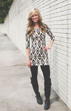 Lizard Thicket - Hello Future Sweater Tunic, $39.99 (http://www.shoplizardthicket.com/hello-future-sweater-tunic/)