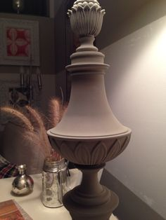 The brass lamp rehab!  Annie Sloane Chalk Paint