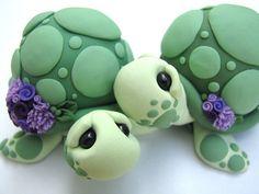 Pastel de bodas Toppers amor tortugas hechas a por theaircastle