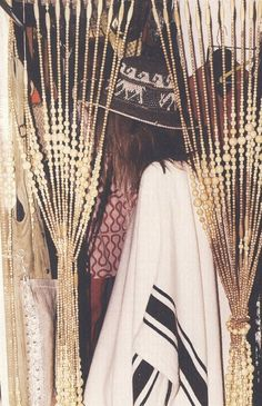Beaded Curtain Poncho and hat