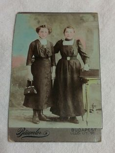 Antique Hungarian tinted CDV young ladies Baumler Budapest 1936 Budapest, Young Women, One Pic, Vintage Photos, Antiques, Lady, People, Pictures, Painting