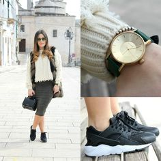 Annalisa Masella (. - Nike Huarache, pelliccia ecologica e un orologio Klasse 14