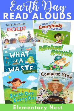 Check out these six Earth Day read alouds, which would be perfect to include in your daily lesson plans and reading activities. These stories each tell kids how to recycle and take care of the earth with strong photography and pictures with elementary friendly messages.