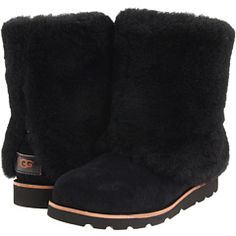 UGG Maylin - comes in black, chocolate, and chestnut.  Not a huge UGG fan, but I loved these.  I have the black and chestnut.  FUZZY! WARM! COMFY! um, FUZZY!  :)